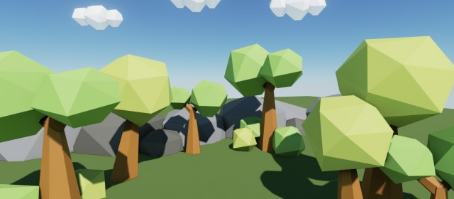 Low Poly Worlds, a good way to learn Blender and UE4