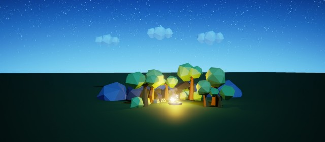 How to build a LowPoly Nighttime Setting with Unreal Engine 4