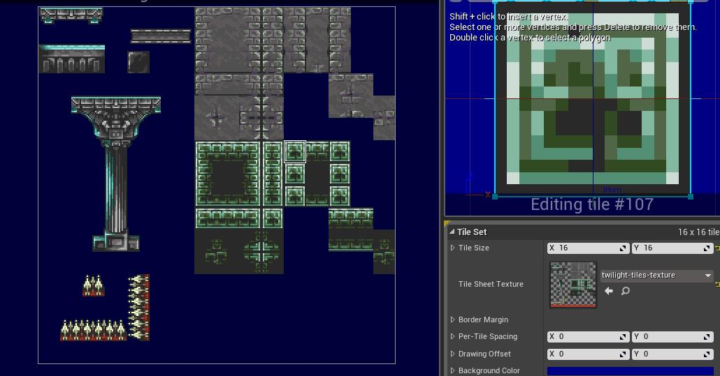 UE4 Tileset Editor for 2D Platformer