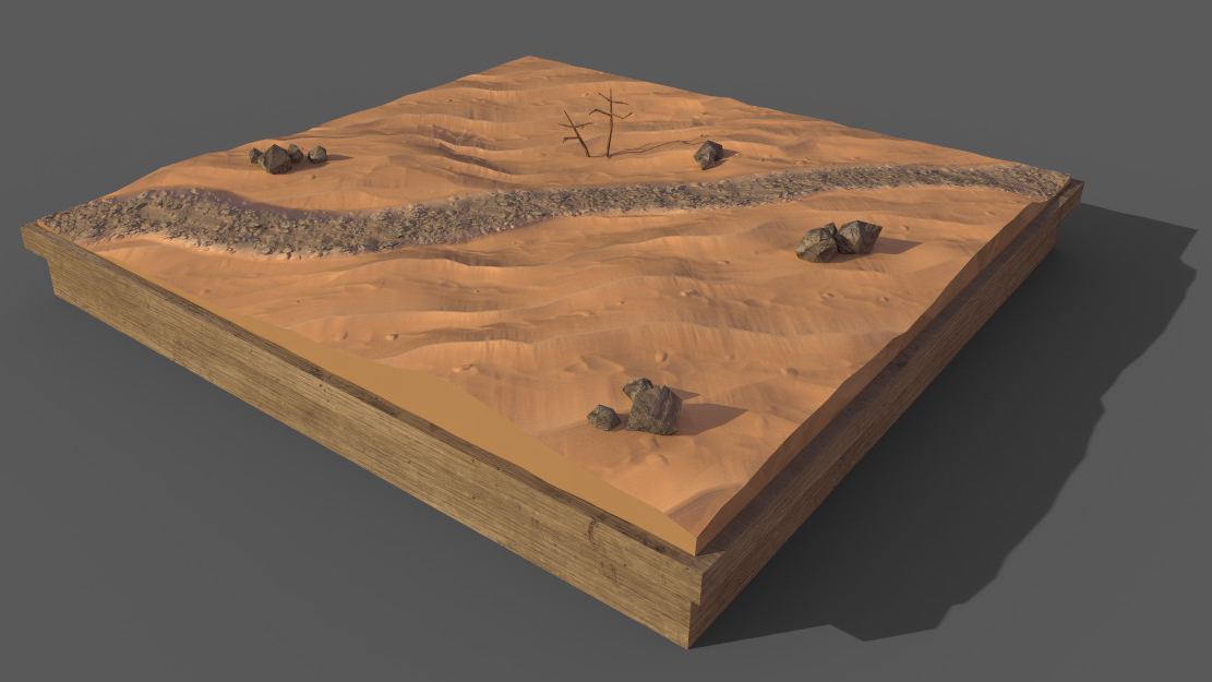 Desert Diorama Blender Substance Painter