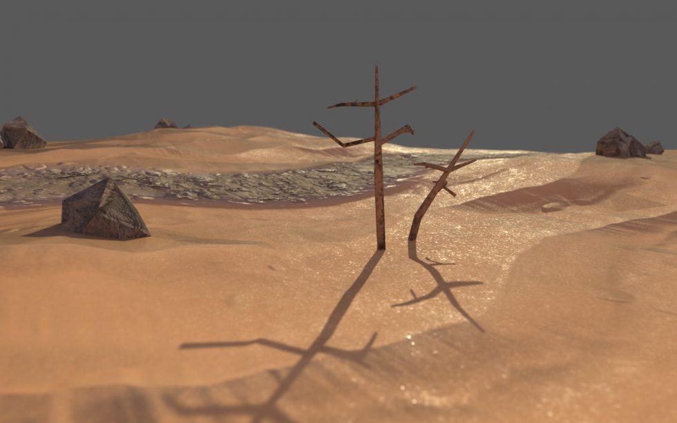 Desert Diorama Blender Practice
